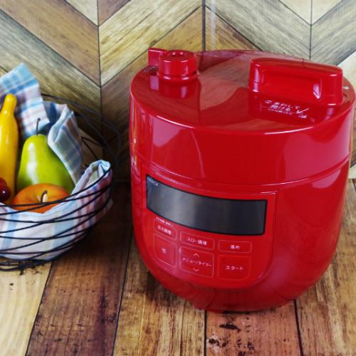 (レシピ付)シロカ 電気圧力鍋 レッド SP-D131R siroca (調理容量 1.3L)(快適家電デジタルライフ)