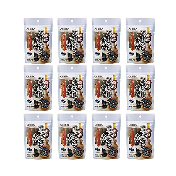 (12点セット)(サプリメント)オリヒロ 醗酵黒にんにく香醋 180粒 (ラッピング不可)(快適家電デジタルライフ)