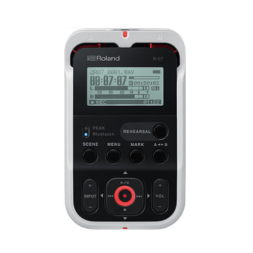 (オーディオレコーダー) ローランド ホワイト R-07 WH High Resolution Audio Recorder(快適家電デジタルライフ)