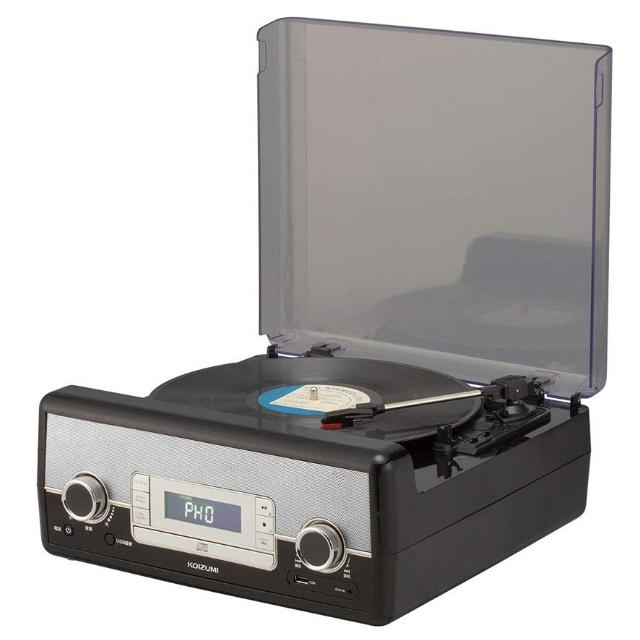 (マルチレコードプレーヤー) 小泉成器 SAD-9801/K ブラック (ラッピング不可)(快適家電デジタルライフ)