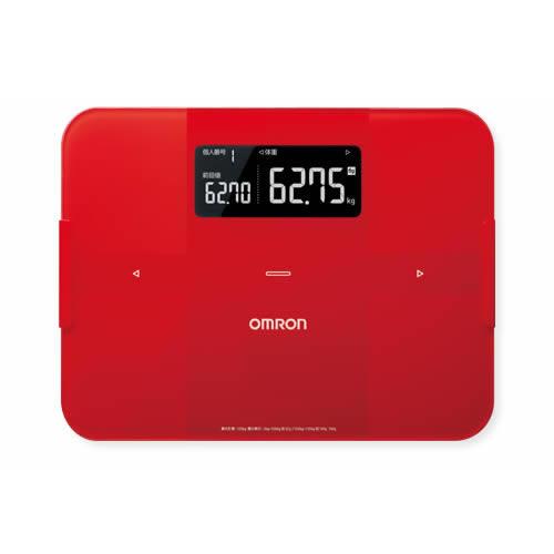 オムロン 体組成計 体重計 HBF-255T-R カラダスキャン レッド OMRON HBF255T(ラッピング不可)(快適家電デジタルライフ)