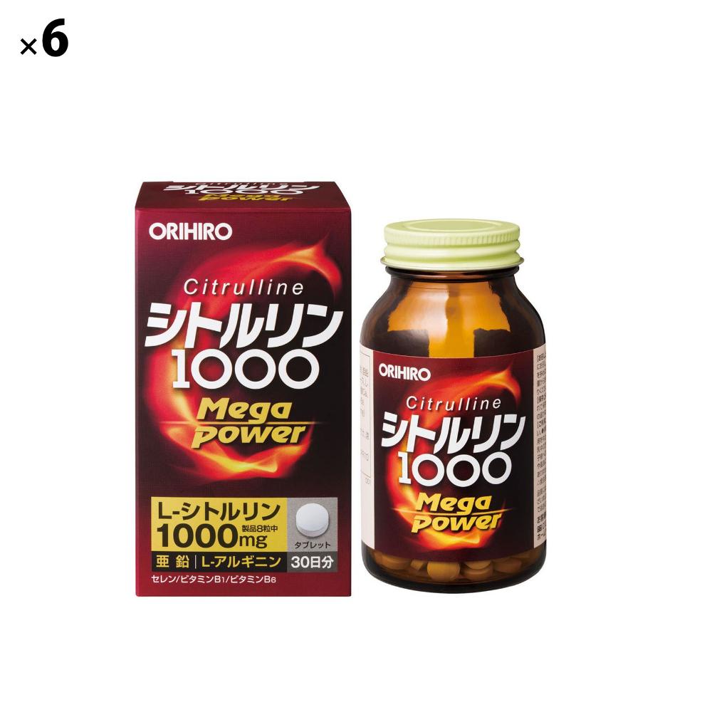 (6点セット)(サプリメント) オリヒロ シトルリンメガパワー1000 (ラッピング不可)(快適家電デジタルライフ)