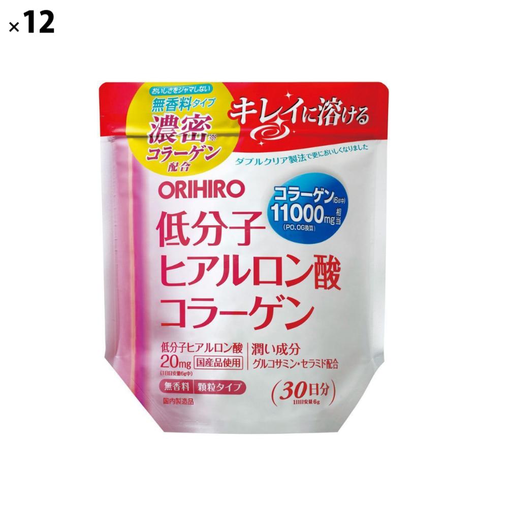 (12点セット)(サプリメント) オリヒロ 低分子ヒアルロン酸コラーゲン袋 (ラッピング不可)(快適家電デジタルライフ)