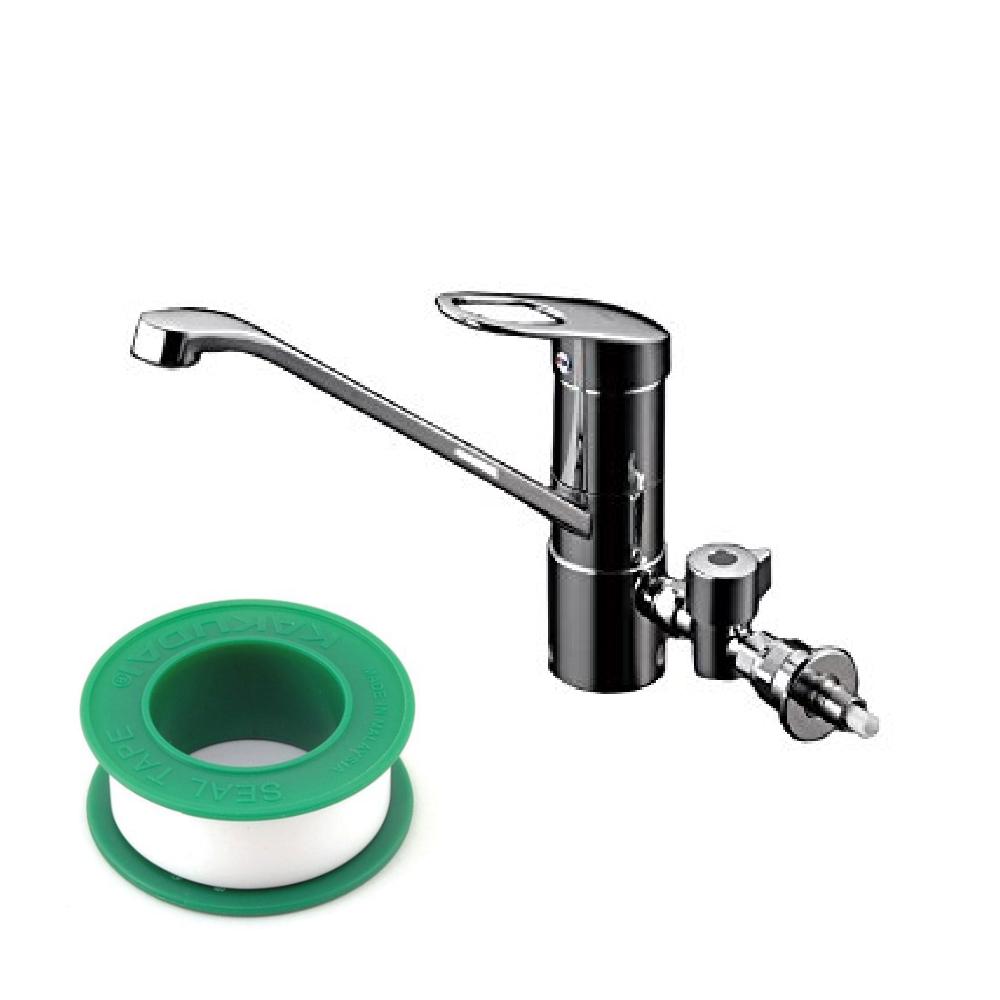 (セット)(水栓)TOTO TKGG31EH キッチン水栓 +(シールテープ) カクダイ 5m 9630 (8072853) (ラッピング不可)(快適家電デジタルライフ)