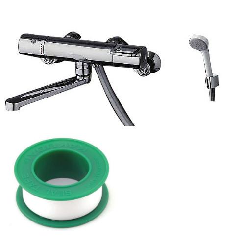 (セット)(浴室用水栓) TOTO TMGG40EZ +(シールテープ) カクダイ 5m 9630 (8072853) (ラッピング不可)(快適家電デジタルライフ)