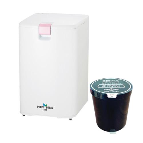 【フィルターセット】島産業 生ゴミ処理機 パリパリキューブ ピンク PPC-01-PK&脱臭フィルター1個(快適家電デジタルライフ)
