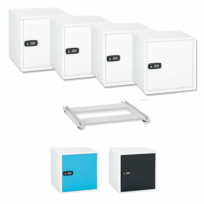 (★同色4個&ベースセット) アスカ (SB500/SB550) 組立式収納ボックス (カラー選択式:ホワイト/ブルー/ブラック)(ラッピング不可)(快適家電デジタルライフ)