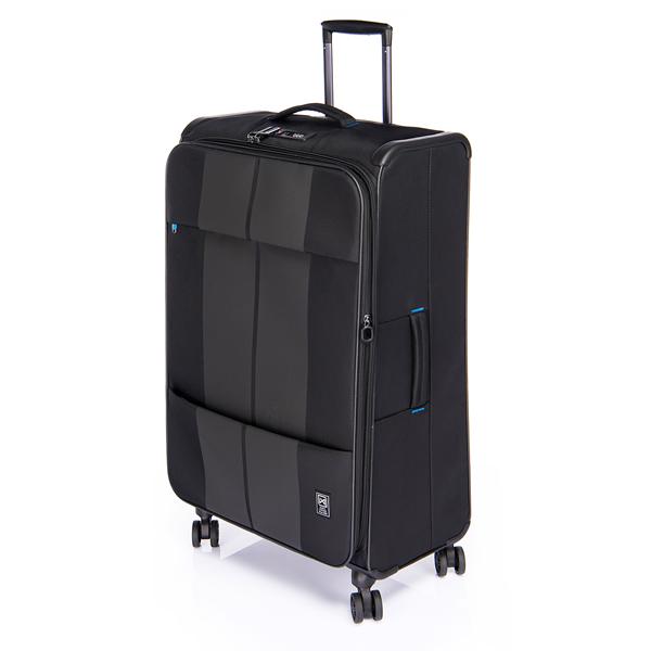 (ポイント10倍中!)(6~7泊用)サンコー鞄 スーツケース (FNZR-72) finoxy ZERO ソフトキャリー 約80(88)L ブラック (ラッピング不可)(快適家電デジタルライフ)