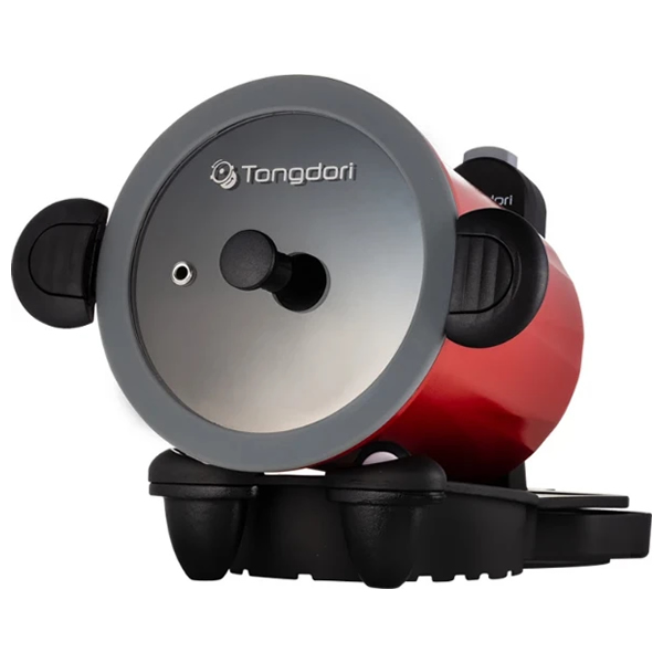 回る鍋 トンドリ ドラム型鍋 TD-4085R トンドリ回転式オーブン ワインレッド(ラッピング不可)(快適家電デジタルライフ)