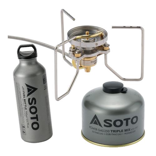 SOTO(ソト)SOD-372 ストームブレイカー&広口フューエルボトルル 700ml&パワーガス250 セット(ラッピング不可)(快適家電デジタルライフ)