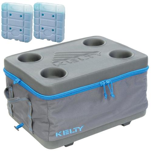 KELTY(ケルティ)FOLDING COOLER MEDIUM(フォールディング・クーラー・ミディアム)&時短凍結スーパーコールドパック UE-3008(Mサイズ)2個入りの3点セット(27Lクーラーボックス)(ラッピング不可)(快適家電デジタルライフ)