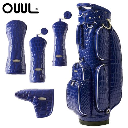 OUUL(オウル) Alligator 5WAY CART BAG(AL8ACT-3 ROYAL)ヘッド&パターカバー 5点セット (カートバッグ/キャディバッグ)(ラッピング不可)(快適家電デジタルライフ)