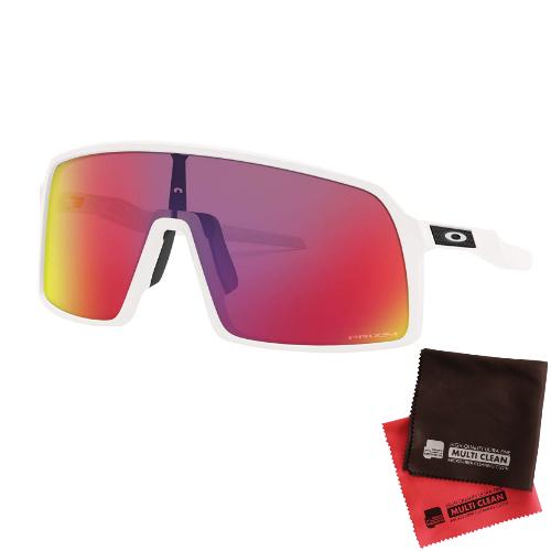 オークリー SUTRO(Asia Fit)Prizm Road レンズ(Matte Whiteフレーム)OO9406A-0337&マイクロファイバークロス 2点セット(サングラス)OAKLEY(快適家電デジタルライフ)