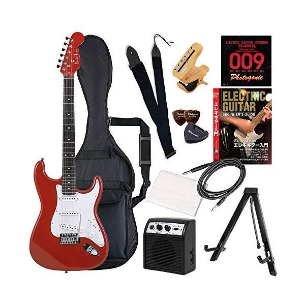 (メーカー直送)(代引不可) ST-180/MRD メタリックレッド PhotoGenic エレキギター (ホームショッピングオリジナル 初心者入門 ギターセット) (ラッピング不可)(快適家電デジタルライフ)