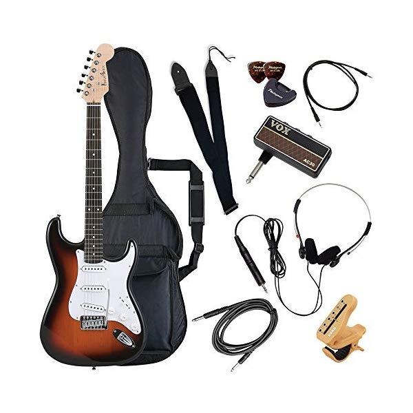 (メーカー直送)(代引不可) ST-180/SB サンバースト PhotoGenic エレキギター (ホームショッピングオリジナル ヘッドフォンアンプ ギターセット) (ラッピング不可)