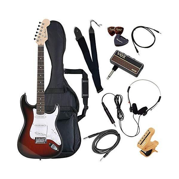 (メーカー直送)(代引不可) ST-180/RDS レッドサンバースト PhotoGenic エレキギター (ホームショッピングオリジナル ヘッドフォンアンプ ギターセット) (ラッピング不可)