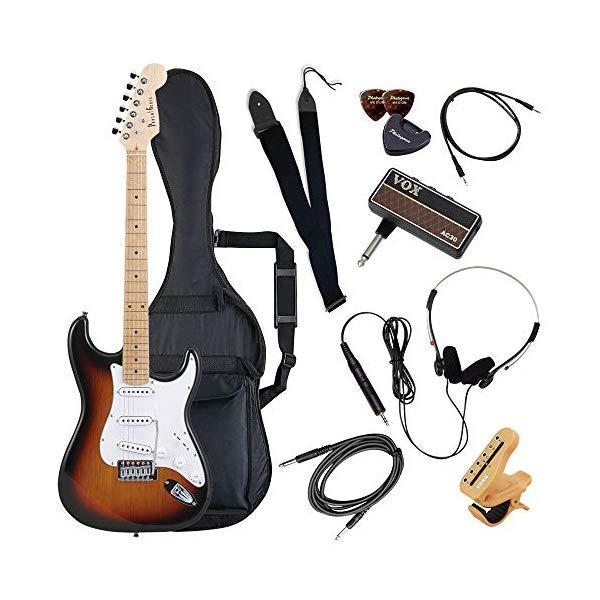 (メーカー直送)(代引不可) ST-180M/SB サンバースト PhotoGenic エレキギター (ホームショッピングオリジナル ヘッドフォンアンプ ギターセット) (ラッピング不可)