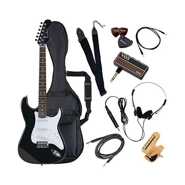 (メーカー直送)(代引不可) ST-180/HBK マッチングヘッドブラック PhotoGenic エレキギター (ホームショッピングオリジナル ヘッドフォンアンプ ギターセット) (ラッピング不可)