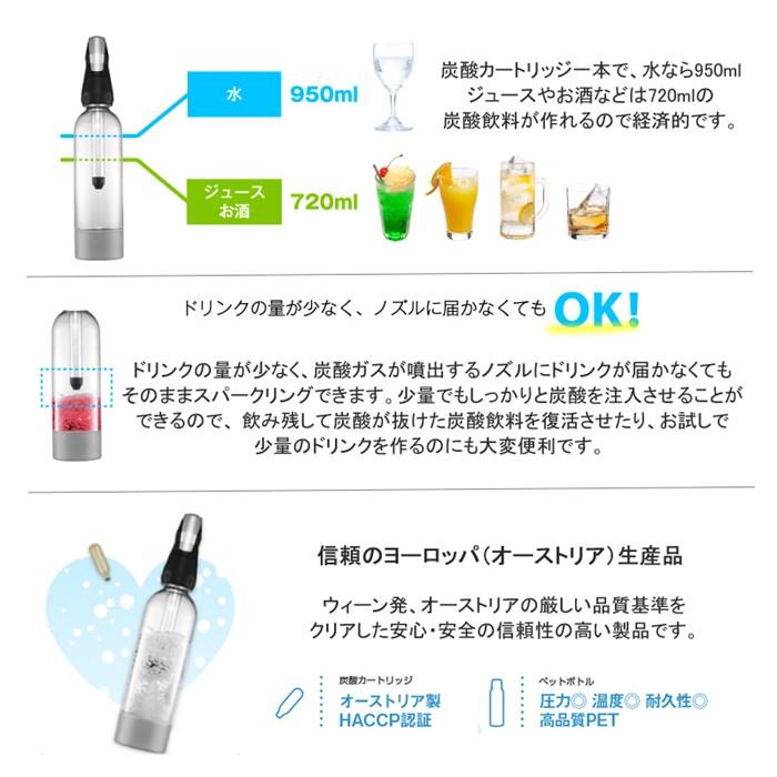 (ソーダマシン)グリーンハウス ツイスパソーダ SODABK スターターキット(炭酸水メーカー)(快適家電デジタルライフ)