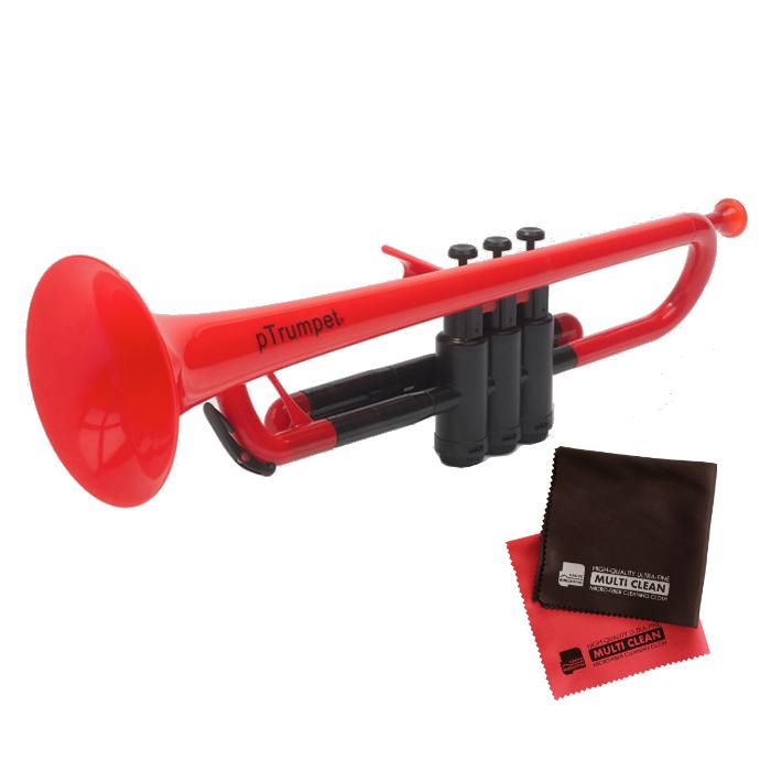 (国内正規品) (プラスチック楽器)PINSTRUMENTS PTRUMPET1R / RED レッド &当社オリジナルクロス2枚セット (PTRUMPET/ピー・トランペット)(ピーインストゥルメンツ) (ラッピング不可)(快適家電デジタルライフ)