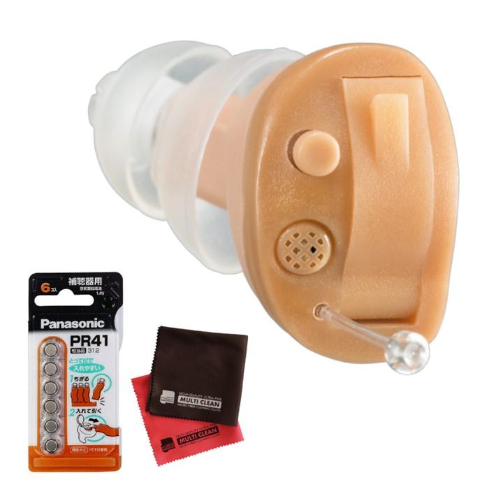 (セット)補聴器 オンキョー OHS-D21R (右耳用)(※非課税)&当社オリジナルクロス&電池(快適家電デジタルライフ)