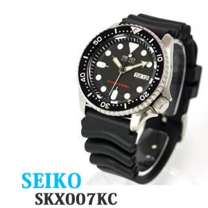 【正規逆輸入品】 SEIKO セイコー【時計】 逆輸入 海外モデル ブラック SKX007KC メンズ(4954628406835)【快適家電デジタルライフ】
