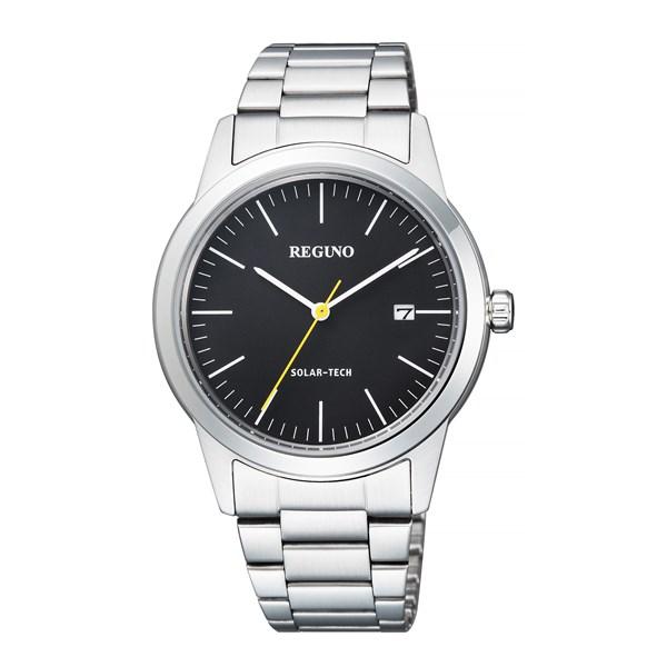 【国内正規品】[シチズン]CITIZEN 腕時計 KM3-116-53 [レグノ]REGUNO ブラック ソーラーテック シンプルシリーズ メンズ[KM311653]【快適家電デジタルライフ】
