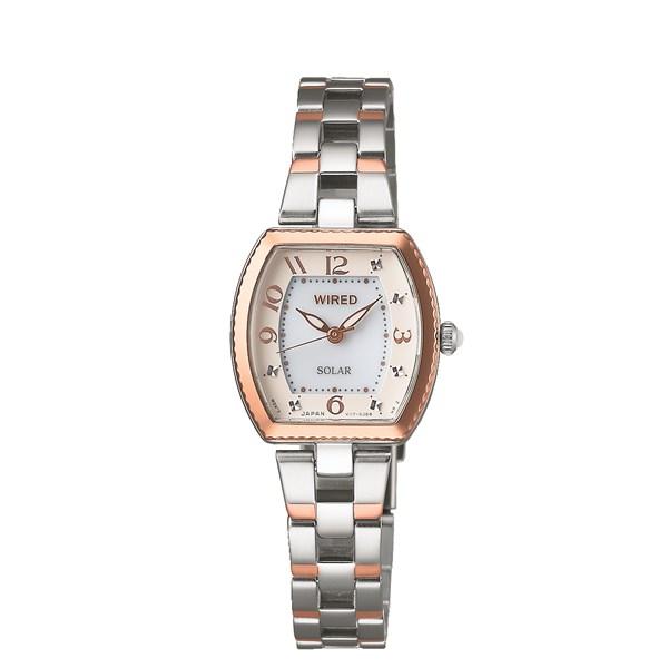 【国内正規品】 腕時計 AGED090[ワイアードエフ]WIREDf レディース【ステンレスバンド ソーラー アナログ表示】【快適家電デジタルライフ】