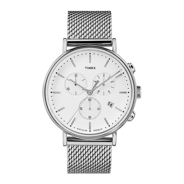 【正規輸入品】[タイメックス]TIMEX ウィークエンダー フェアフィールド WEEKENDER FAIRFIELD 腕時計 メンズ TW2R27100 クロノシルバーメッシュ【快適家電デジタルライフ】