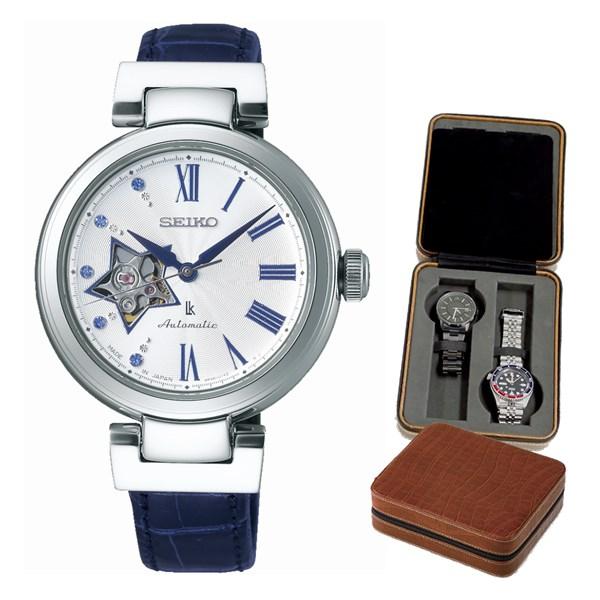 【セット】【国内正規品】[セイコー]SEIKO 腕時計 SSVM035 [ルキア]LUKIA レディース メカニカル&4本用時計ケース【革バンド 自動巻き アナログ表示】【快適家電デジタルライフ】