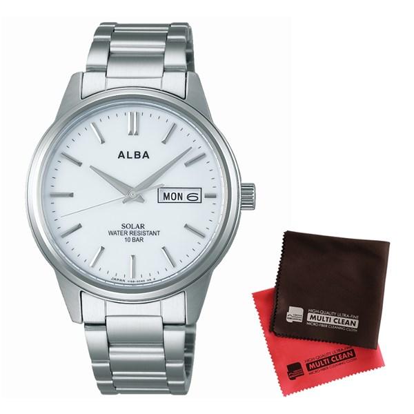【セット】【国内正規品】[セイコー]SEIKO 腕時計 AEFD563 [アルバ ソーラー]ALBA SOLAR メンズ&クロス2枚セット【ステンレスバンド ソーラー アナログ表示】【快適家電デジタルライフ】