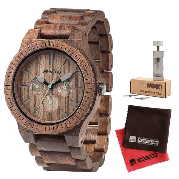 【セット】【正規輸入品】[ウィーウッド]WEWOOD 腕時計 9818030 木製 KAPPA NUT&バンド調整キット&マイクロファイバークロス2枚【木製バンド クオーツ 多針アナログ表示】【快適家電デジタルライフ】