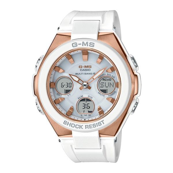 (国内正規品)(カシオ)CASIO 腕時計 MSG-W100G-7AJF (ベビーG)BABY-G レディース G-MS【樹脂バンド ソーラー電波 アナデジ表示】(快適家電デジタルライフ)