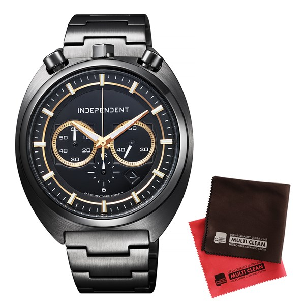【セット】【国内正規品】[シチズン]CITIZEN 腕時計 BA7-042-51 [インディペンデント]INDEPENDENT メンズ INNOVATIVE line&クロス2枚セット(快適家電デジタルライフ)