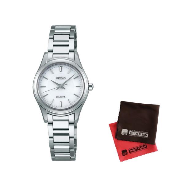 【セット】【国内正規品】[セイコー]SEIKO 腕時計 SWCQ091 DOLCE&EXCELINE[ドルチェ&エクセリーヌ] レディース&クロス2枚セット(快適家電デジタルライフ)