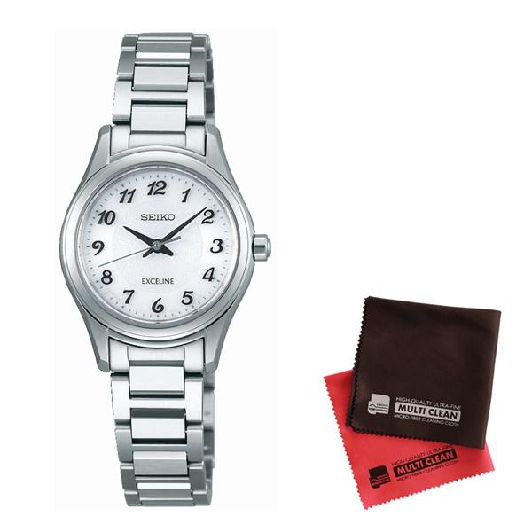 【セット】【国内正規品】[セイコー]SEIKO 腕時計 SWCQ093 DOLCE&EXCELINE[ドルチェ&エクセリーヌ] レディース&クロス2枚セット(快適家電デジタルライフ)