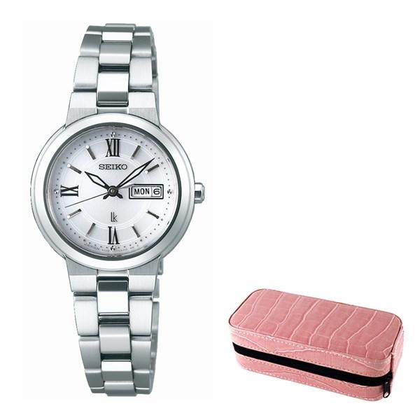 (セット)(国内正規品)(セイコー)SEIKO 腕時計 SSVN029 (ルキア)LUKIA レディース&腕時計ケース2本用(ステンレスバンド ソーラー アナログ表示)(快適家電デジタルライフ)