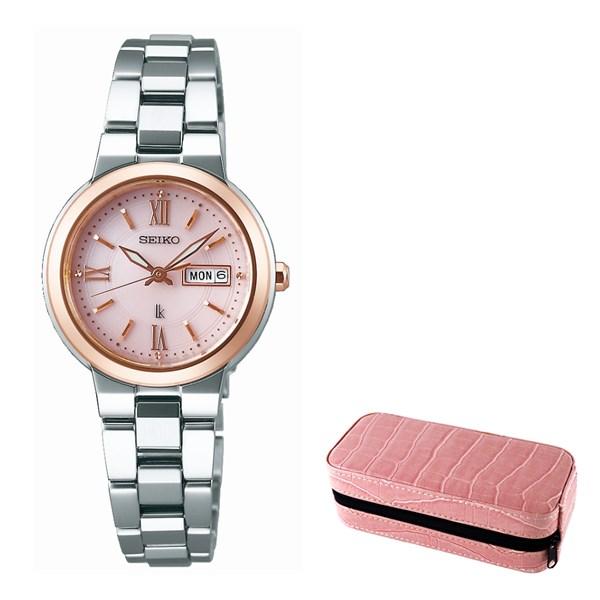 (セット)(国内正規品)(セイコー)SEIKO 腕時計 SSVN030 (ルキア)LUKIA レディース&腕時計ケース2本用(ステンレスバンド ソーラー アナログ表示)(快適家電デジタルライフ)