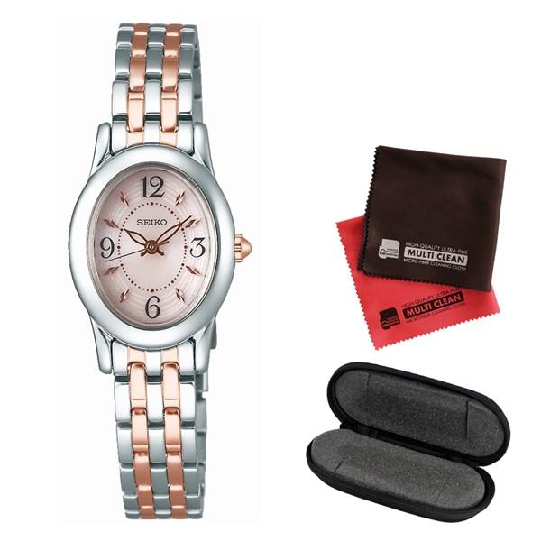 【セット】【国内正規品】[セイコー]SEIKO 腕時計 SWFA171 [セイコーセレクション]SEIKO SELECTION レディース&腕時計ケース 1本用&クロス2枚セット(快適家電デジタルライフ)