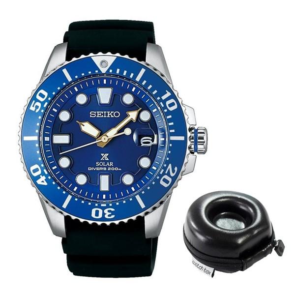 (セット)(国内正規品)(セイコー)SEIKO 腕時計 SBDJ021 (プロスペックス)PROSPEX メンズ ネット限定&腕時計ケース【ソーラー シリコンバンド アナログ表示】(快適家電デジタルライフ)