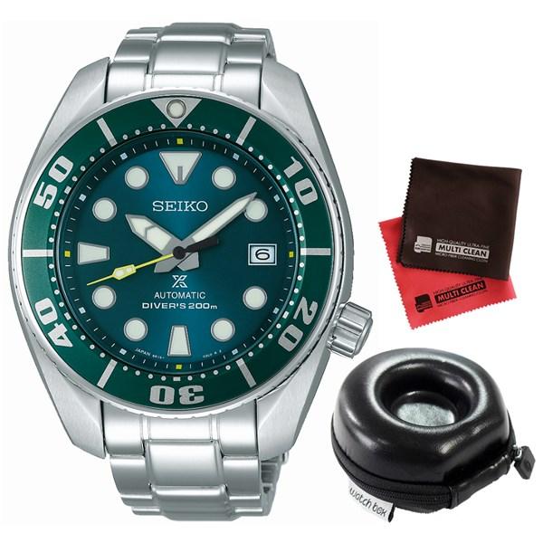 (セット)(国内正規品)(セイコー)SEIKO 腕時計 SZSC004 (プロスペックス)PROSPEX メンズ ネット流通限定&腕時計ケース1本用 丸型・クロス2枚(ステンレスバンド 自動巻き アナログ表示)(快適家電デジタルライフ)