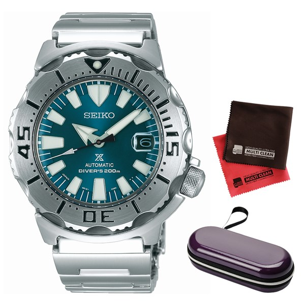 (セット)(国内正規品)(セイコー)SEIKO 腕時計 SZSC005 (プロスペックス)PROSPEX メンズ ネット流通限定&腕時計ケース1本用 パープル・クロス2枚(ステンレスバンド 自動巻き アナログ表示)(快適家電デジタルライフ)