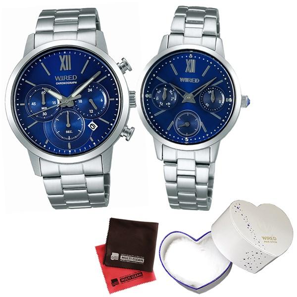 【セット】【国内正規品】[セイコー]SEIKO 腕時計 AGAT413・AGET405 [ワイアード]WIRED ペアスタイル&専用ペア箱&クロス2枚セット【ペアウォッチ】(快適家電デジタルライフ)