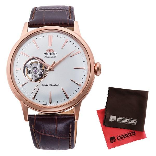 【セット】【国内正規品】[オリエント]ORIENT 腕時計 RN-AG0004S [クラシック]CLASSIC セミスケルトン メンズ&クロス2枚セット【牛革(カーフ)バンド 自動巻き】【快適家電デジタルライフ】