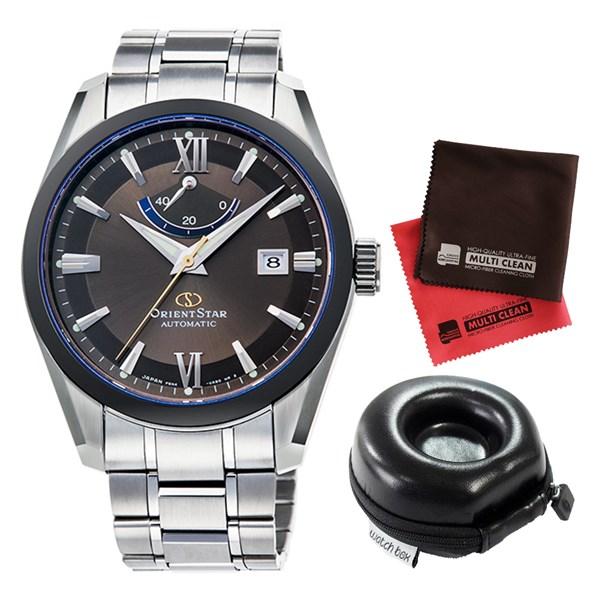 (セット)(国内正規品)(オリエント)ORIENT 腕時計 RK-AF0001B (オリエントスター)ORIENTSTAR チタン メンズ&腕時計ケース1本用 丸型&クロス2枚セット【チタンバンド 自動巻 アナログ表示】(快適家電デジタルライフ)