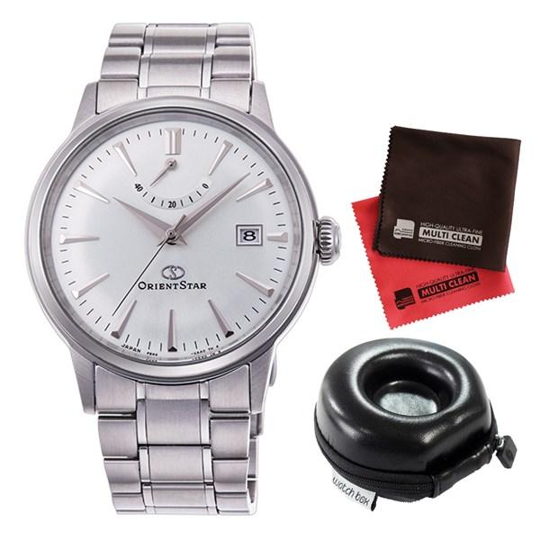 (セット)(国内正規品)(オリエント)ORIENT 腕時計 RK-AF0005S (オリエントスター)ORIENTSTAR クラシック メンズ&腕時計ケース1本用 丸型&クロス2枚セット【ステンレスバンド 自動巻 アナログ表示】(快適家電デジタルライフ)