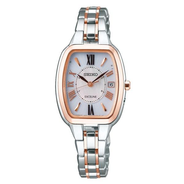 【国内正規品】(セイコー)SEIKO 腕時計 SWCW136 DOLCE & EXCELINE(ドルチェ&エクセリーヌ) レディース(チタンバンド 電波ソーラー アナログ)(快適家電デジタルライフ)