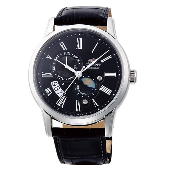 (国内正規品)(オリエント)ORIENT 腕時計 RN-AK0003B (クラシック)CLASSIC SUN&MOON表示 メンズ 自動巻き(手巻き付き)(牛革バンド メカニカル 多針アナログ表示)(快適家電デジタルライフ)