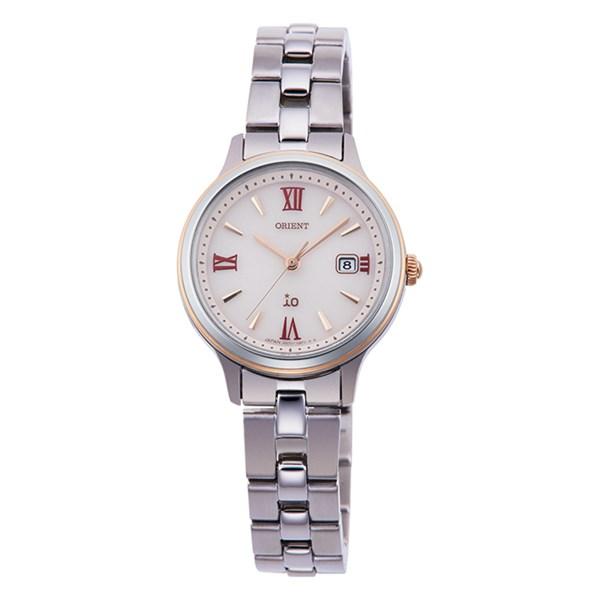 【国内正規品】(オリエント)ORIENT 腕時計 RN-WG0006P io(イオ) ナチュラル&プレーン レディース(ステンレスバンド ソーラー アナログ)(快適家電デジタルライフ)