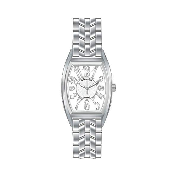 【正規輸入品】(グランドール)GRANDEUR 腕時計 JGR001W1 メンズ 日本製 トノー型(ステンレスバンド クオーツ アナログ)(快適家電デジタルライフ)